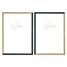 Set of two A2 picture frames in black and oak