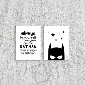 Batman picture and quote on wall prints