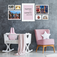 white picture wall frame set