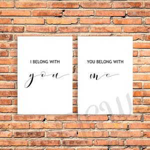 Two love quote wall prints