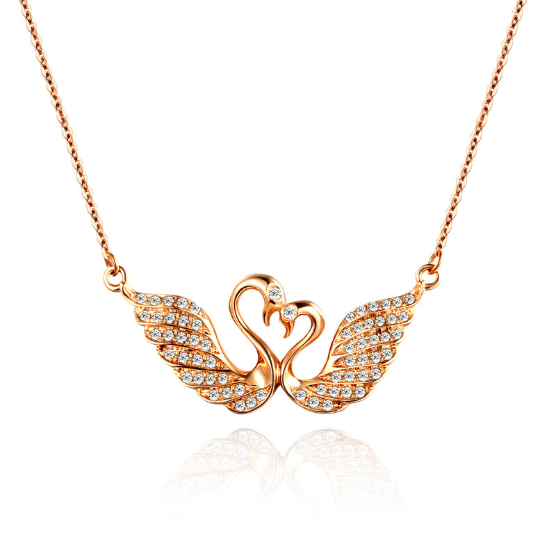 18k gold rose gold diamond necklace custom platinum gold swan 18k gold rose gold diamond necklace custom platinum gold swan diamond chain key chain custom pendant aloadofball Image collections