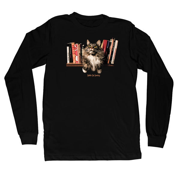 Bookworm cat LS T-Shirt