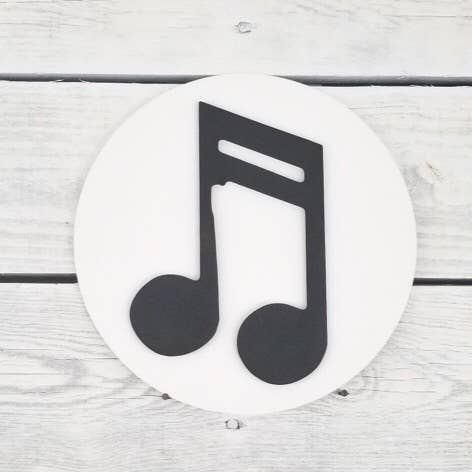 Greens Mill - Interchangeable HOME Sign, Music Note Attachment
