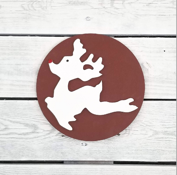 Greens Mill - Interchangeable HOME Sign, Flying Rudolph Attachment