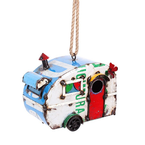 Bird Holiday – Retro Caravan Design – Birdhouse