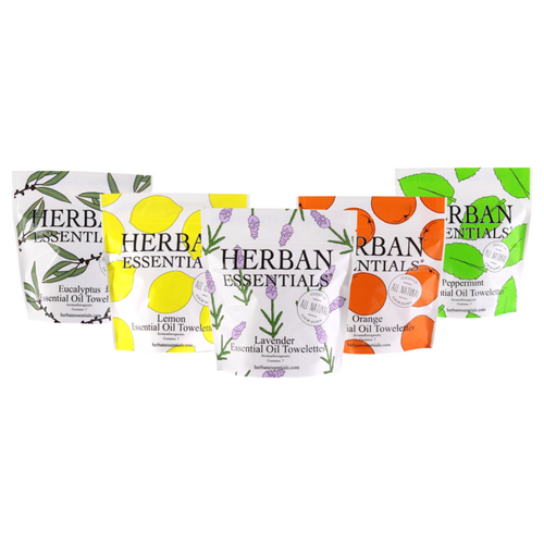 Herban Essentials- Towelettes, Multiple Fragrances Available