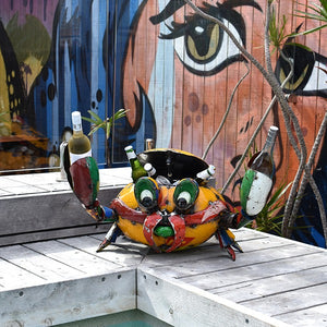Conrad the Crab Drinks Tub Cooler – Handmade & Recycled