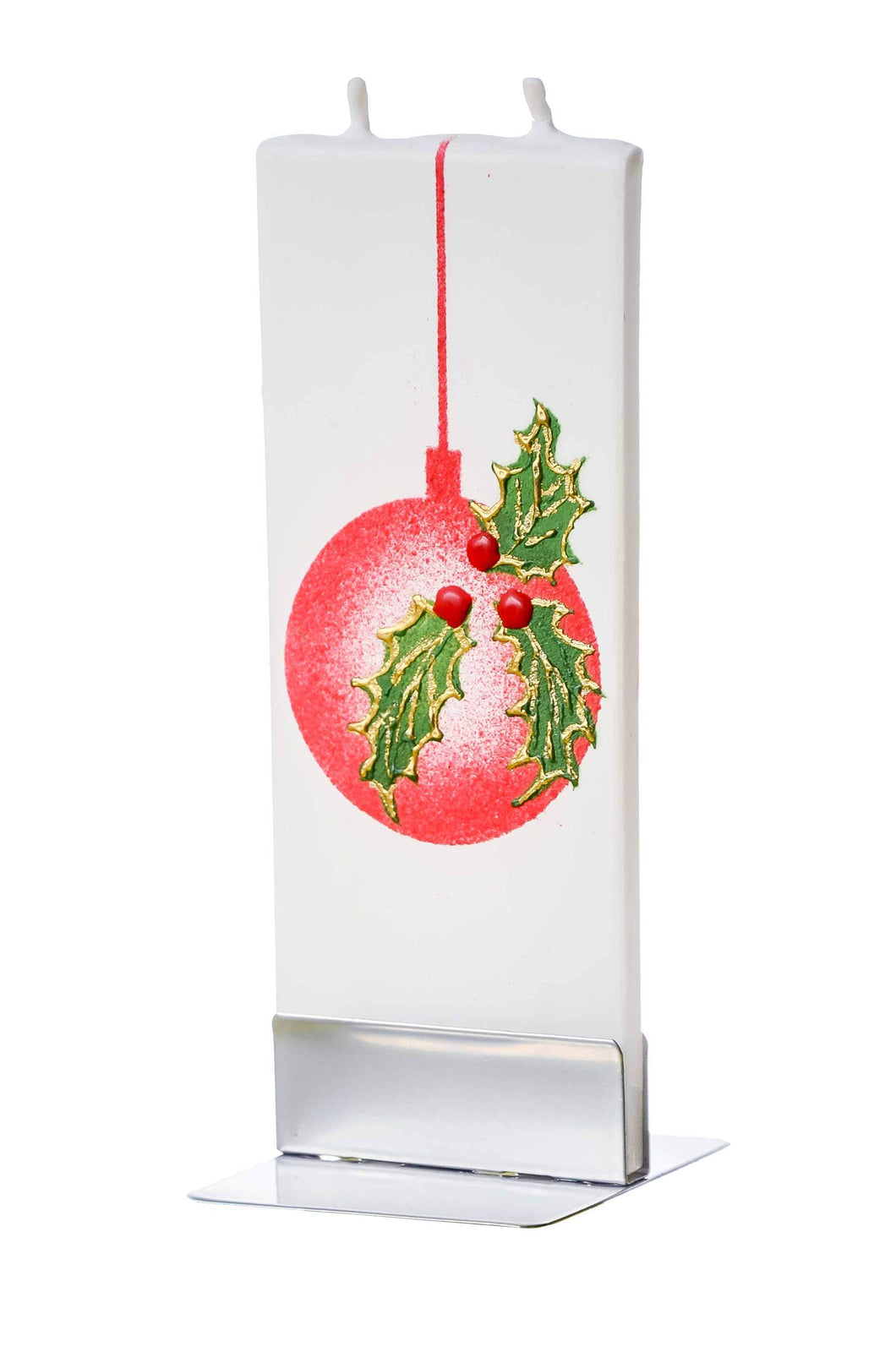 Flatzy Candles- Red Ball Ornament