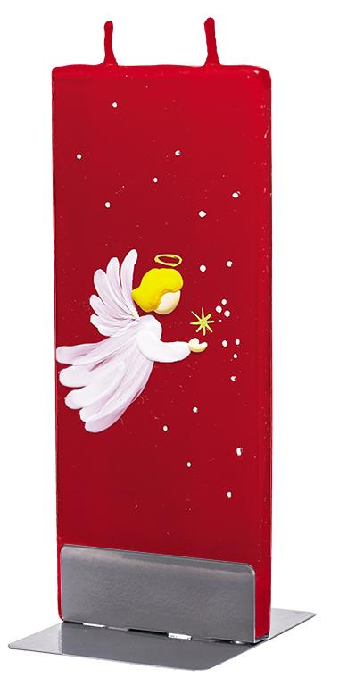 Flatzy Candles- Baby Angel On Red