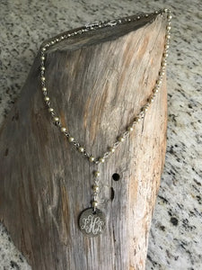 Faux Pearl Necklace - Monogrammed