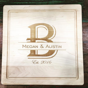 Maple Leaf- Square Cutting Board