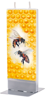 Flatzy Candles- Bees on Honeycomb 2
