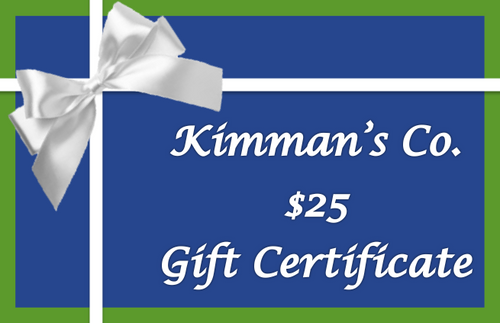 Gift Certificates- $25