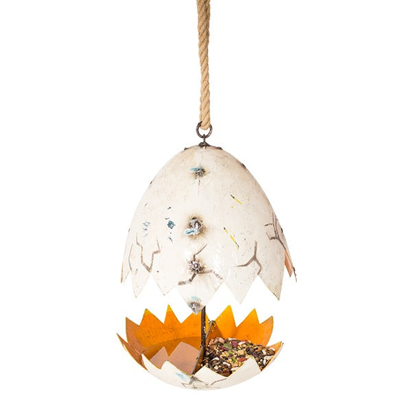 The Broken Egg Birdfeeder