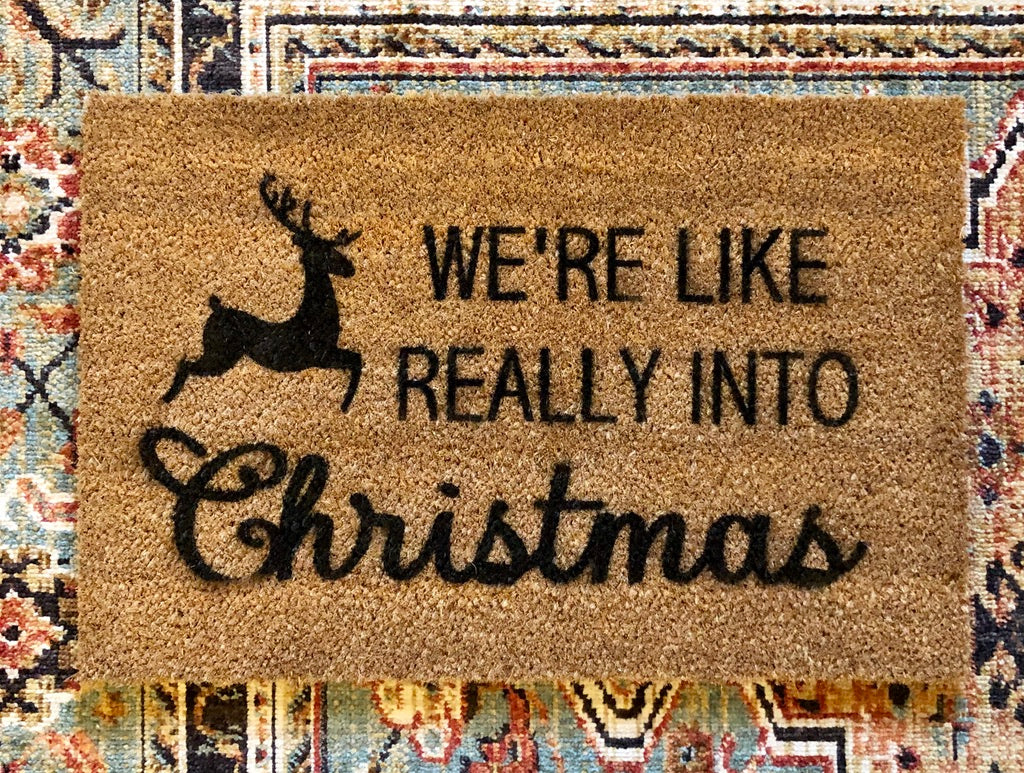 TRH Creat10ns- Door Mat, Really Into Christmas