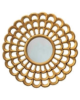 Creative Co-op- Gold Finish Sunburst Mirror