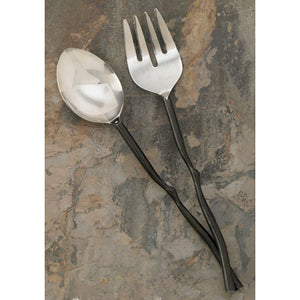 Serving Set - Salad - Twisted black branch