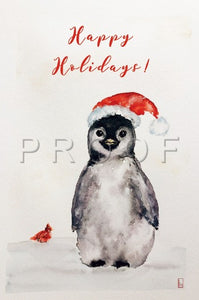 Lucia De Giovanni- Penguin Watercolor Artwork