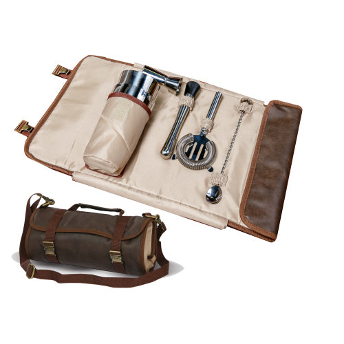 Cocktail Bar Tool Roll Up Kit