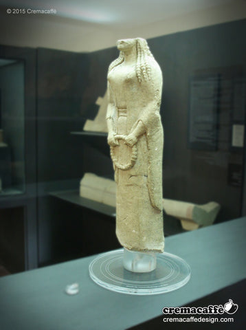 Kore statue on display at the Archeological Museum of the ancient Greek colony of Gela.