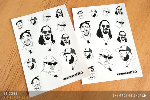 "Cremacaffè Design ""Hip Hop Tribute"" Stickers"