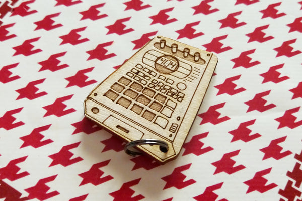 Cremacaffe Design wooden keychain SP-404 art