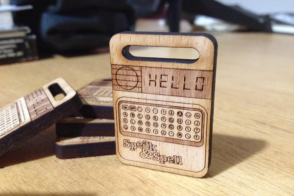 Cremacaffè Speak & Spell Miniature Keychain
