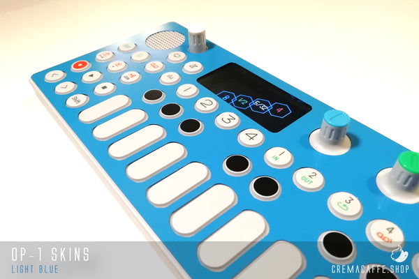 Cremacaffè Design OP-1 Skins | Light Blue