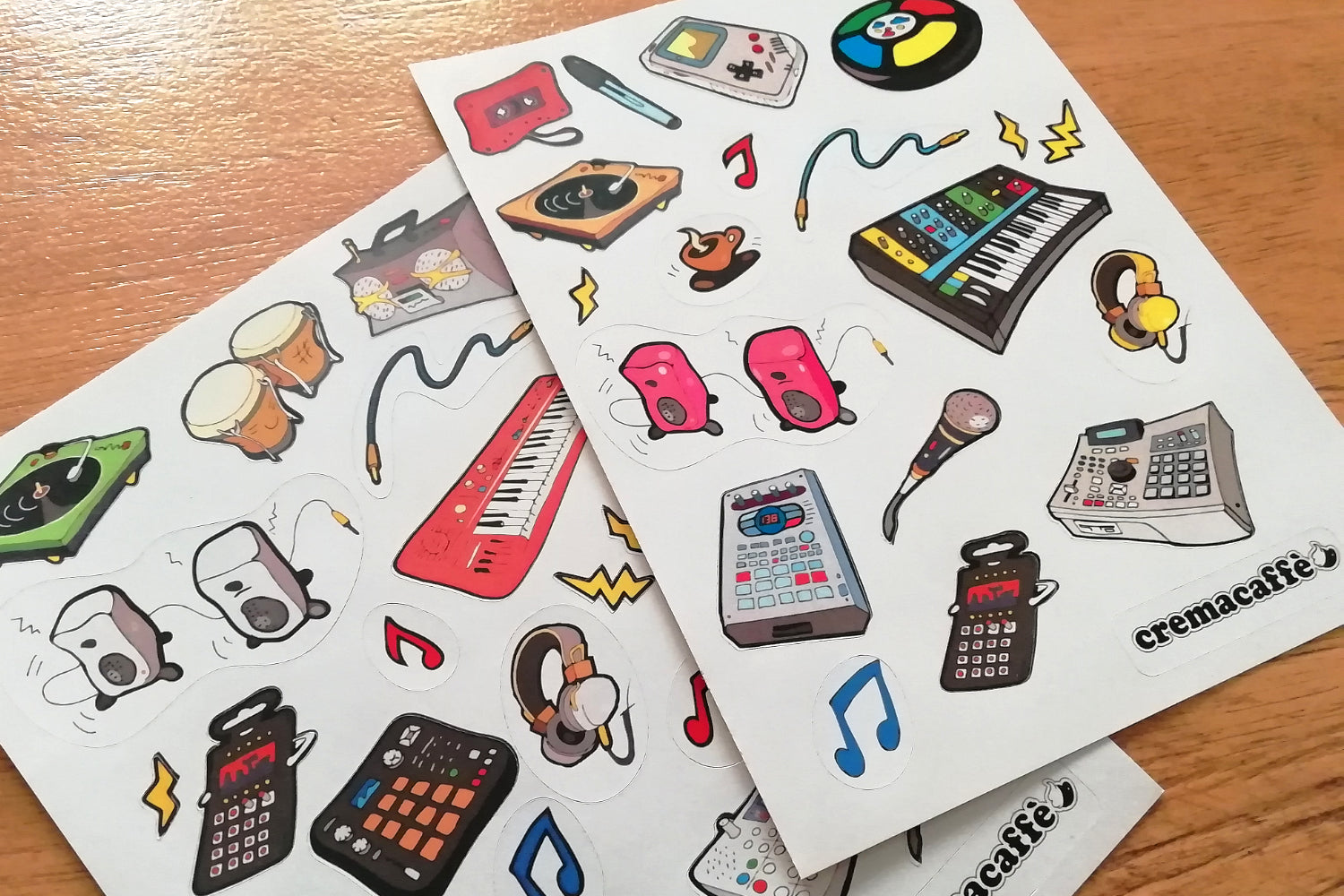 "Cremacaffè Design ""Synth World"" Stickers"