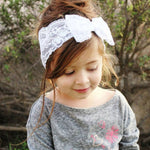 Lace Headband with Large Bow - Various Colours