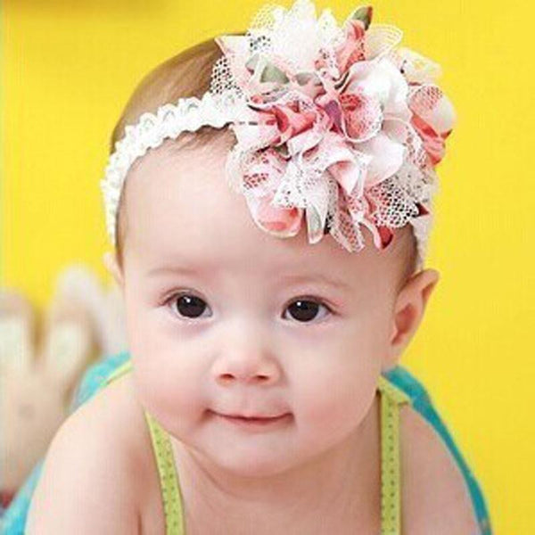 Flower Headband with Lace Detail