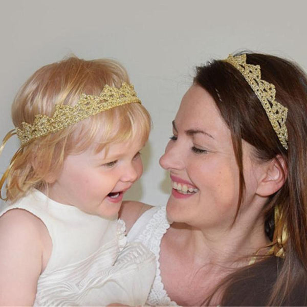 Mummy & Me Matching Gold Crown Set