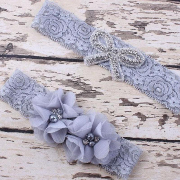 Mummy & Me Vintage Lace Headband Sets - Various Colours
