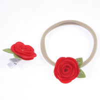 Mummy & Me Rose Headband & Clip Set