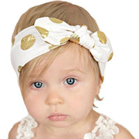 Polka Dot Knot Bow Headbands - Various Colours