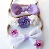 Set of Three Lilac Headbands
