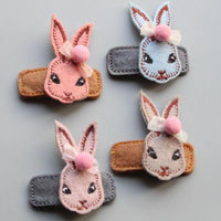 Set of Four Bunny Clips