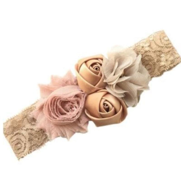 Rose Gold Vintage Lace Headband