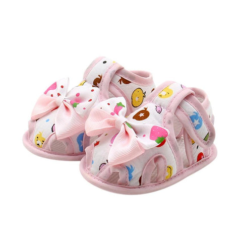 Newborn Infant Baby Girls Summer shoes Bow Soft Sole Toddler Anti-slip Shoes First walker baby shoes girl