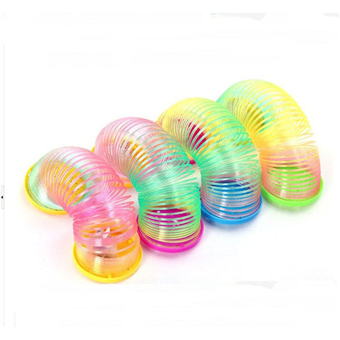 New Nice Cute Projection Light Rainbow Circle Children Educational Toys LED  Light Small Toys Spring Coil