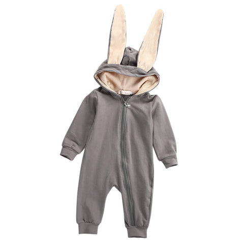 Baby clothes Newborn Infant Baby Girls Boys romper Rabbit 3D Ear Warm Romper Jumpsuit Outfits Clothes drop shipping