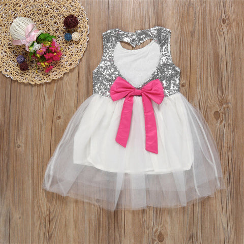Sequined Bowknot Dress