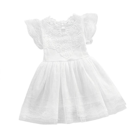 Kids Clothes Baby Flower Girl Princess Dress Lace Party Tulle Lace Tutu Slip Dress