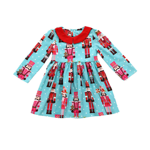 Girls Christmas Dress Toddler Kids Baby Girls clothes Cartoon Princess Dresses Party Dress Christmas Outfits Clothes drop ship