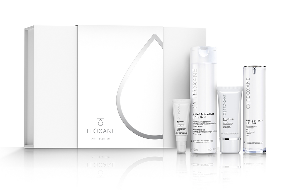 TEOXANE Anti Blemish Skincare Collection image with box and products shown