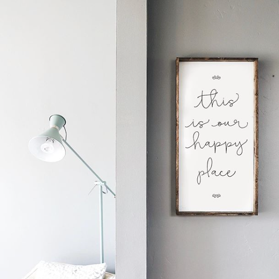 Happy Place | Wooden Sign