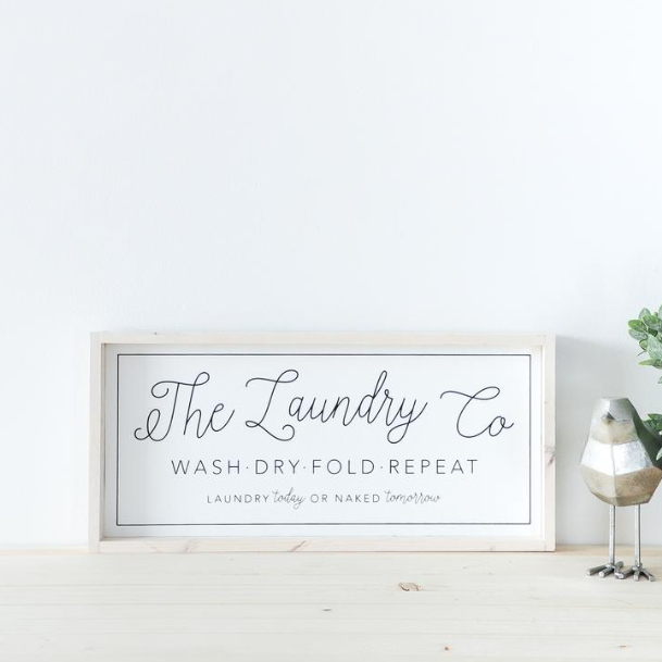 Laundry Co. | Wooden Sign