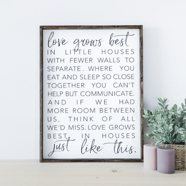 Love Grows Best | Wooden Sign