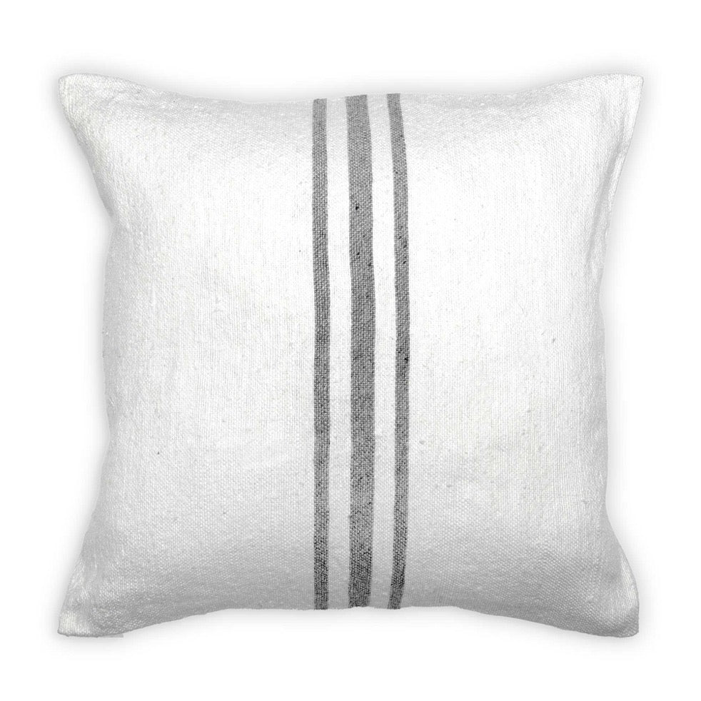 Moroccan Pillow - Grey Stripe