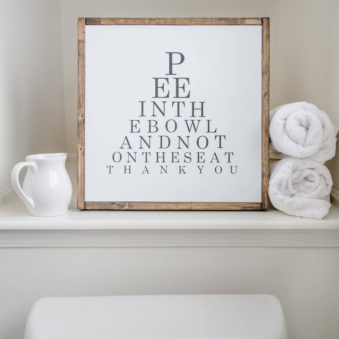 Pee in the Bowl | Wooden Sign